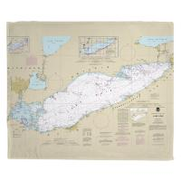 Lake Erie Nautical Chart Blanket