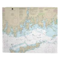 CT: Noank, Mystic, Stonington, CT Nautical Chart Blanket