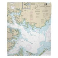 NC: Pamlico Sound Western Part, NC Nautical Chart Blanket