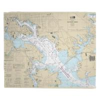 MD: Baltimore Harbor, MD Nautical Chart Blanket