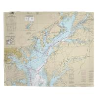 MD: Chesapeake Bay; Sandy Point to Susquehanna River, MD Nautical Chart Blanket
