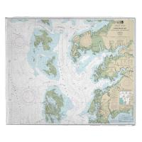 MD-VA: Chesapeake Bay; Tangier Sound Northern, MD-VA Nautical Chart Blanket
