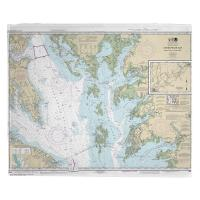 MD-VA: Chesapeake Bay; Smith Point to Cove Point, MD-VA Nautical Chart Blanket
