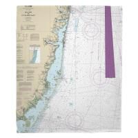 NJ: Sea Girt To Little Egg Inlet, NJ Nautical Chart Blanket