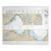FL: St. Lucie Inlet to Fort Myers, Okeechobee, FL Nautical Chart Blanket