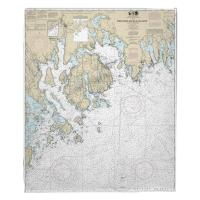 ME: Frenchman and Blue Hill Bays, ME Nautical Chart Blanket