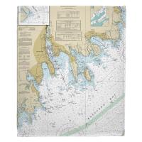 MA: New Bedford, Fairhaven, Mattapoisett, MA Nautical Chart Blanket