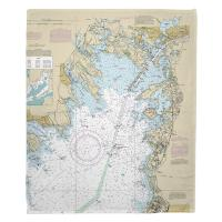 MA: Marion, Wareham, Onset, MA Nautical Chart Blanket