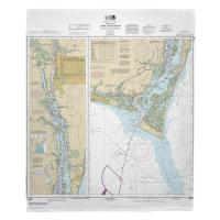 NC: Cape Fear River; Cape Fear to Wilmington, NC Nautical Chart Blanket