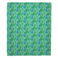 Palm Springs Green & Blue Blanket