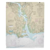 CT: Connecticut River, CT Nautical Chart Blanket