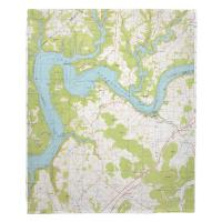 KY: Mill Springs, Cumberland Lake, KY (1978) Topo Map Blanket