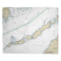 MA: Naushon Island to Cuttyhunk Island, MA Nautical Chart Blanket