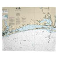NC: Bogue Sound, NC Nautical Chart Blanket
