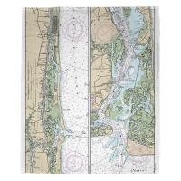 NC: Sunset Beach, Southport, NC Nautical Chart Blanket