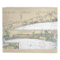 SC-NC: North Myrtle Beach, SC and Oak Island, NC Nautical Chart Blanket