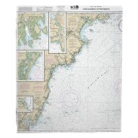 ME-NH: Cape Elizabeth, ME to Portsmouth, NH Nautical Chart Blanket