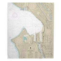 WA: Seattle Harbor, WA Nautical Chart Blanket