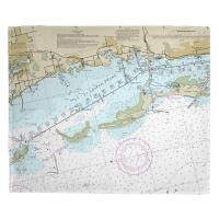 FL: Crystal Beach, Honeymoon Island, FL Nautical Chart Blanket