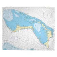 Little Bahama Bank, Grand Bahama, Abaco, Bahamas Nautical Chart Blanket