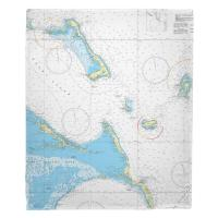 Cat Island, Exuma Island, Long Island, Rum Cay, Bahamas Nautical Chart Blanket