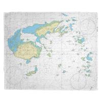 Fiji Islands, South Pacific Nautical Chart Blanket