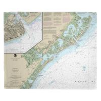 NJ: Brigantine, Atlantic City, Ocean City, NJ Nautical Chart Blanket