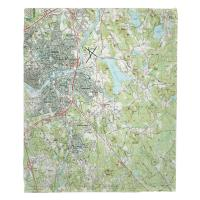 MA: North Andover, MA Topo Map Blanket