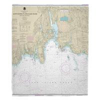 CT: Niantic, CT Nautical Chart Blanket