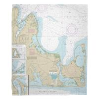 MA: Martha's Vineyard, MA (Eastern Part) Nautical Chart Blanket