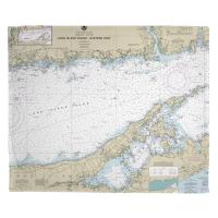Long Island Sound Eastern Part, CT-NY Nautical Chart Blanket