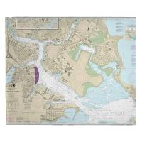 MA: Boston, MA Nautical Chart Blanket