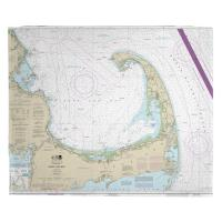 MA: Cape Cod, MA Nautical Chart Blanket