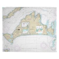 MA: Martha's Vineyard, MA Nautical Chart Blanket
