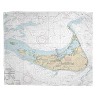 MA: Nantucket, MA Nautical Chart Blanket