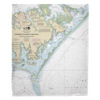 NC: Portsmouth Island to Beaufort, NC Nautical Chart Blanket