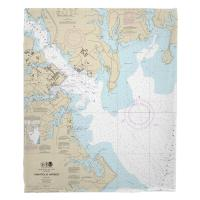 MD: Annapolis Harbor, MD Nautical Chart Blanket