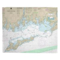 CT-NY: Fishers Island Sound, CT-NY Nautical Chart Blanket