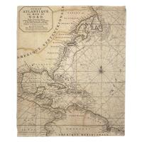 Old World Nautical Chart Blanket