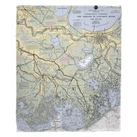 LA: New Orleans, LA Nautical Chart Blanket