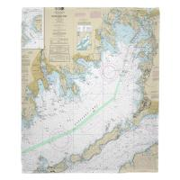MA: Buzzards Bay, MA Nautical Chart Blanket