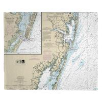 MD: Ocean City, MD Nautical Chart Blanket