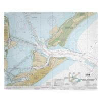 TX: Galveston, TX Nautical Chart Fleece Blanket