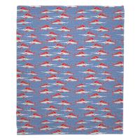Sailfish School Coral Blanket