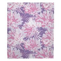 Purple Floral Fusion Blanket