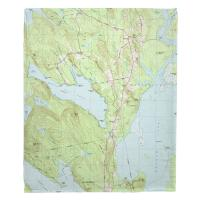 ME: Beech Hill Pond, ME (1981) Topo Map Blanket