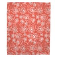 Nautilus Outline Coral Blanket