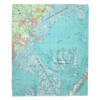 NJ: Tuckerton, Little Egg Harbor, NJ (1995) Topo Map Blanket
