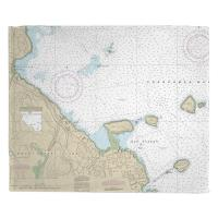 ME: Bar Harbor, ME Nautical Chart Blanket