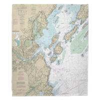ME: Portland, ME Nautical Chart Blanket